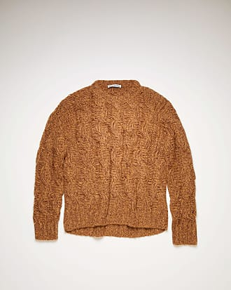 Acne Studios FN-MN-KNIT000187 Brown/burgundy Melange cable-knit sweater