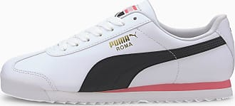 Puma Womens PUMA Roma Basic+ Trainers, White/Bubblegum, size 3.5, Shoes