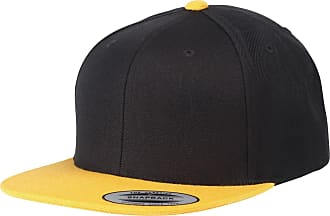 Yupoong Flexfit Unisex Classic Varsity Snapback Cap (One Size) (Black/Gold)