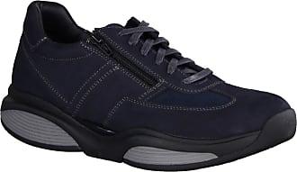 Xsensible SWX4 Grey/Black (Blue) - Comfortable Shoe - Mens Shoes Trainer/Lace-Up Shoe, Blue, Leather (Stretch Leather) Blue Size: 10.5 UK