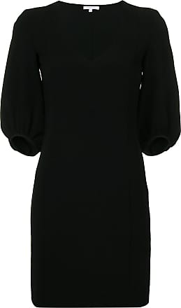 Patrizia Pepe v-neck mini dress - Preto