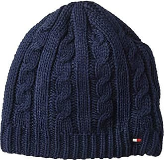 a3fe1e3c11b26c Tommy Hilfiger Mens Cold Weather Knit Beanie, Dark Blue, One Size