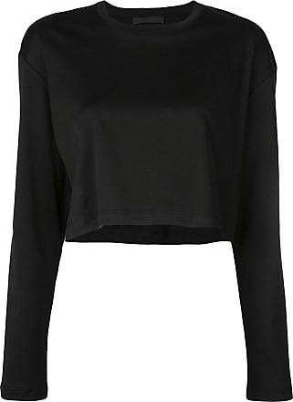 Wardrobe.NYC Release 03 long sleeve crop top - Black