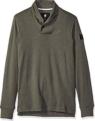 G-Star Mens Poult Shawl Collar Pullover, Gs Grey/Asfalt, X-Large