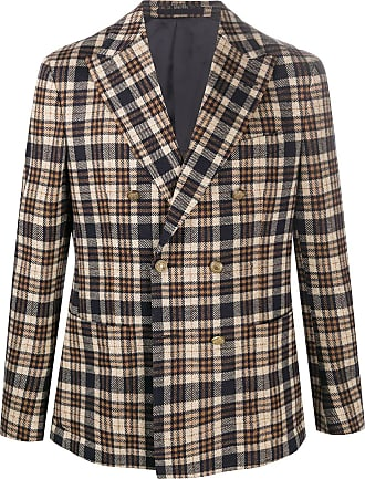 Eleventy double-breasted tartan blazer - NEUTRALS