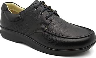 Doctor Shoes Antistaffa Sapato Masculino 3050 em Couro Floater Preto Doctor Shoes-Preto-41