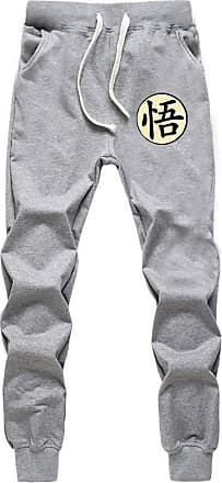 Cosstars Anime Dragon Ball Z Goku Sweatpants Trousers Cosplay Costume Sport Jogging Long Pants with Pockets Grey 7 XL