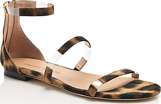 Tamara Mellon Flatline Leopard Suede Sandals, Size - 35.5