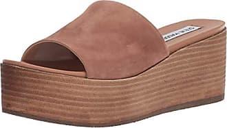 Steve Madden Womens Heated Wedge Sandal, tan Suede, 10 M US