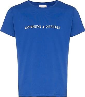Nasaseasons Camiseta bordada Expensive & Difficult - Azul