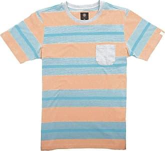 Element Camiseta Element Striped Laranja/azul