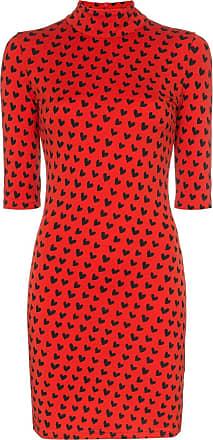 House Of Holland Vestido de lã gola alta - Vermelho