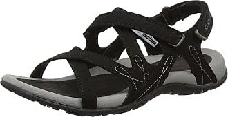 Hi-Tec Women Waimea Falls Hiking Sandals, Black (Black/Grey), 4 UK (37 EU)