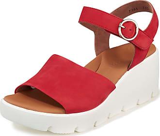 Paul Green Sandals wedge heel and platform sole Paul Green red