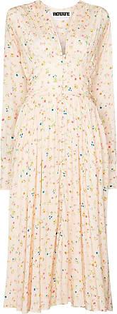 Rotate Vestido midi Tracy com estampa floral - Neutro