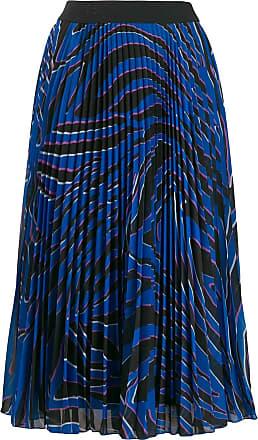 Escada Sport pleated print skirt - Azul