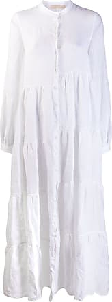 120% Lino long shirt dress - White