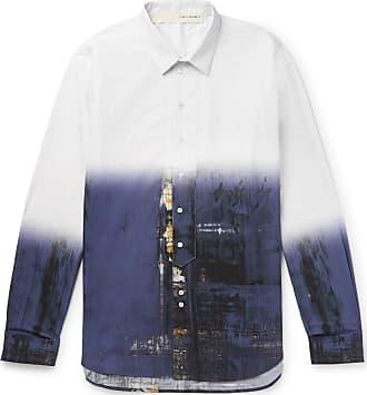 Isabel Benenato Printed Cotton Shirt - White