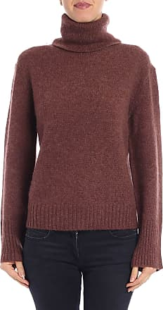360 Cashmere Brown pure cashmere turtleneck