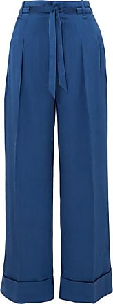 Roland Mouret Perkins High-rise Silk-blend Jacquard Pants - Blue