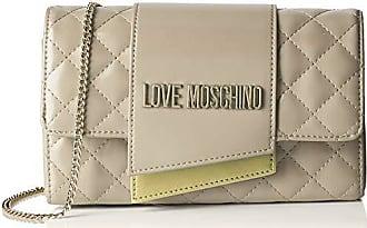 676672b0b7 Love Moschino Borsa Quilted Nappa Pu, Tracolla Donna, (Avorio), 6x14x23 cm