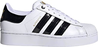 adidas Originals adidas Womens Superstar Bold Gymnastics Shoe, Footwear White/Core Black/Gold Metallic, 3.5 UK