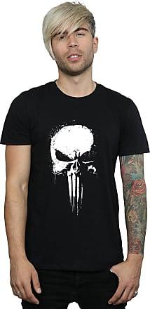 MARVEL Mens Punisher Spray Paint Skull T-Shirt Medium Black