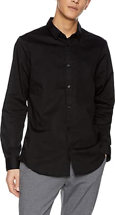 A X Armani Exchange Mens Smart & Slim Casual Shirt, Black (Black 1200), X-Large