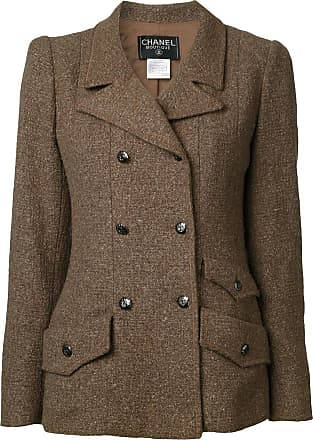 Chanel tweed double breasted jacket - Brown