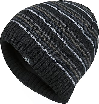 7708435a7b4 Trespass Mens Ray Knitted Winter Beanie Hat (One Size) (Black)