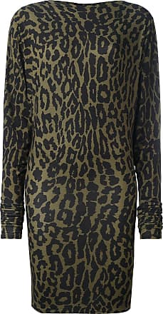 Alexandre Vauthier leopard print dress - Verde
