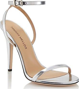 Tamara Mellon Reveal Argento Specchio Sandals, Size - 35.5