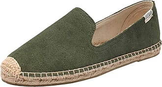 ICEGREY Womens Causal Loafer Flat Slip On Espadrille Army Green Suede UK 6.5