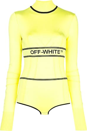 Off-white ribbed logo roll neck - Amarelo