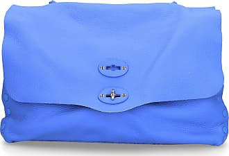 Zanellato Handbag CACHEMIRE leather embossment logo blue