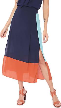 Dress To Saia Dress to Midi Color Block Azul-marinho/Verde
