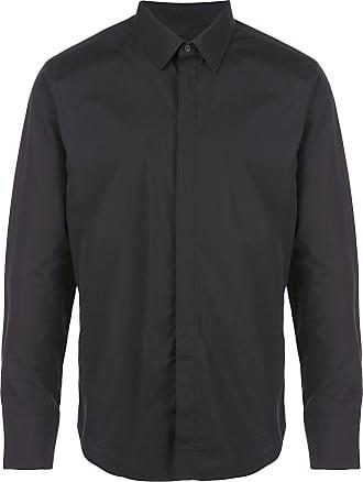 Wardrobe.NYC Camisa lisa mangas longas - Preto