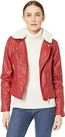 Yoki Womens Faux Leather Moto Jacket