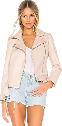 BB Dakota Guest List Faux Leather Jacket in Blush