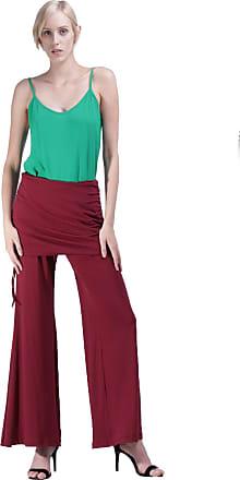 Amazônia Vital Calça Pantalona Amazonia Vital com Saia Drapeada Marbella Bordo Cor:Vermelho;Gênero:Feminino;Tamanho:G