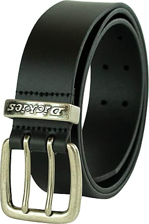 Dickies mens11DI020001Leather Double Prong Belt apparel-belts - Black - (Waist : 38)