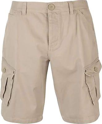 Firetrap Mens BTK Shorts Button Fly Closure (Stone, Medium)