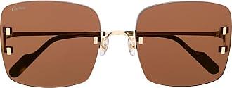 Cartier Óculos de sol C Décor - Dourado