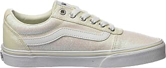 Vans Womens Ward Canvas Low-Top Sneakers, Off-White ((Glitter Rainbow) White Xy2), 4 UK 36.5 EU