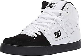 DC Mens Pure HIGH-TOP WC Skate Shoe, White/Black, 7.5 M US