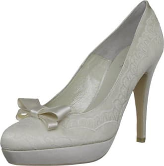 55929bb5 Menbur Troya 05115X904 - Zapatos clásicos de satén para mujer, color  marfil, talla 39