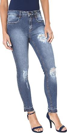 805590ff20 Lança Perfume Calça Jeans Lança Perfume Slim Destroyed Azul