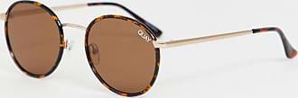 Quay Omen round sunglasses in tort-Brown