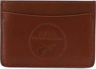 A.P.C. Porta-cartões de couro - Marrom