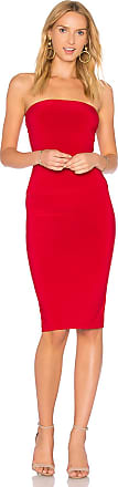 Norma Kamali x REVOLVE Strapless Dress to Knee Dress in Red